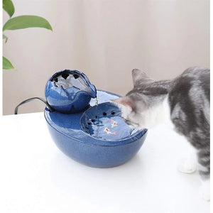 Ceramic Cat Drinking Fountain Ultra-quiet Pet Automatic Activated Carbon Cycle Environmental Water Machine Capacity