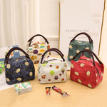 Cute Multicolor Insulation Package Portable Travel Ice Pack Lunch Bag Cotton Cloth Lunch Bag