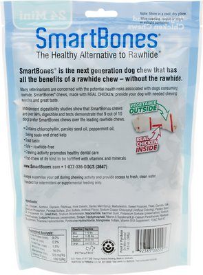 Mini Dental Chew Bones Dog Treats,16 pack