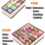 4 PCS Closet Foldable Underwear Bra Drawer Storage Boxes