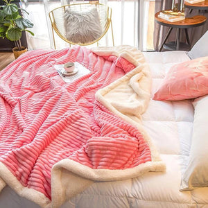 Double-layer Coral Fleece Magic Velvet Blanket