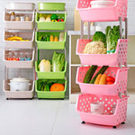 4 Layers-Household Shelves Multi-Layer Overlay Fruit And Vegetable Storage Basket Toy Storage Rack