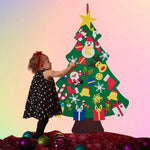 DIY Felt Christmas Tree with 30pcs Ornaments
