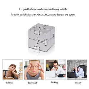 Infinity Magic Cube Relieve Stress Anxiety ADHD OCD for Kids and Adults