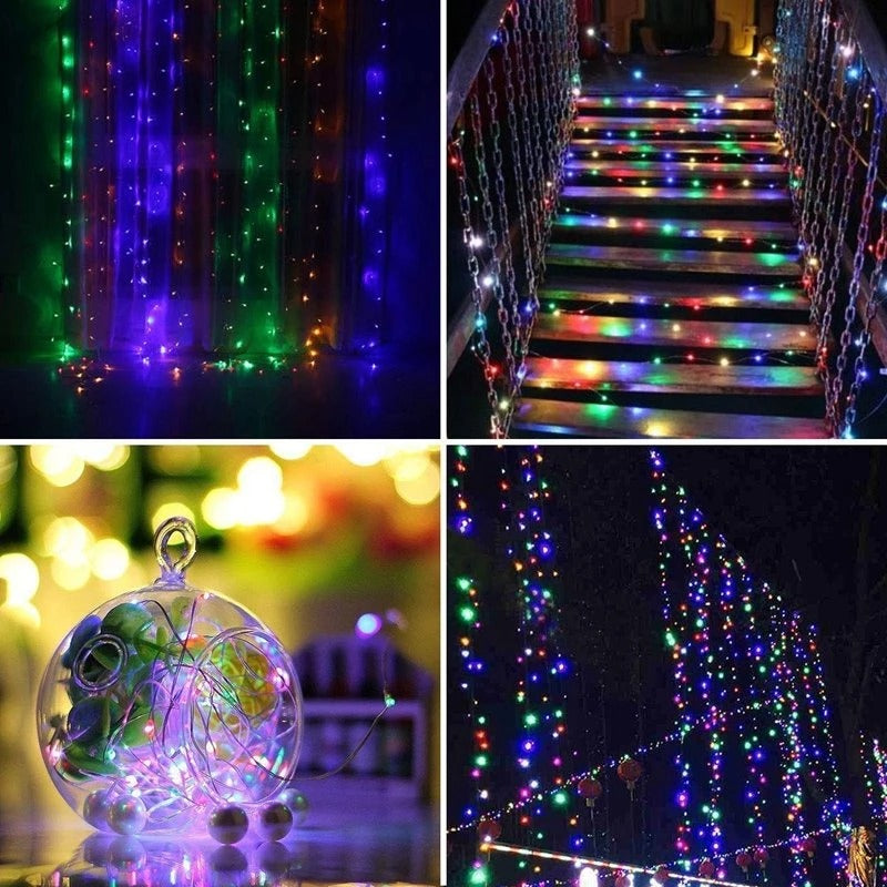 33ft 100 LED Waterproof Battery Powered Starry Fairy Lights