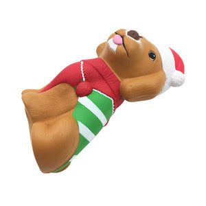 Christmas Puppy Squishy Slow Rising With Packaging Collection Gift