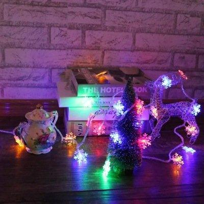 Colorful Snowflake Led Decorative Light String Light Christmas Party Decor