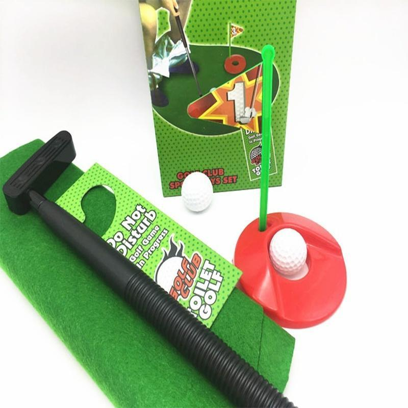 Modern Cool Funny Potty Putter Toilet Time Mini Golf Game Novelty Gag Gift Toy Mat