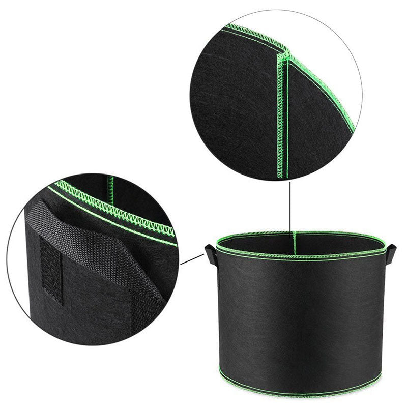 Non-woven Fabric Planting Bag Gardening Tools/Handles Round Aeration Pots Container