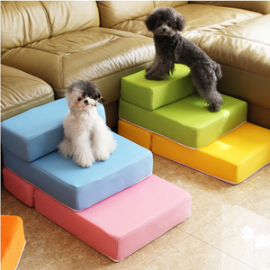 Folding Portable 2-Steps Dog Cat Pet Stairs Ramp Ladder Pet Stair Breathable Mesh Staircase