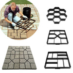 Garden DIY Path Maker Model Concrete Stepping Stone Pave Pavement Paver Mould Tool