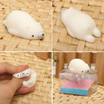 Mochi Polar Bear Squishy Squeeze Cute Healing Toy Kawaii Collection Stress Reliever Gift Decor