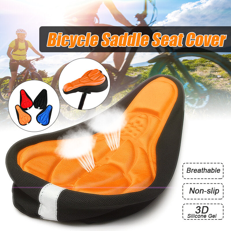 Bicycle Saddle 3D Soft Seat Cover Gel Silicone Cushion Cycling for Bike Ultralight