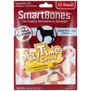 Small PlayTime Chicken Flavor Chews Dog Treats,10 pack