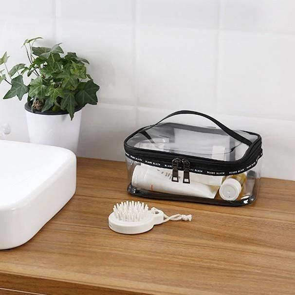 Portable Clear Makeup Bag Zipper Waterproof Transparent Travel Storage