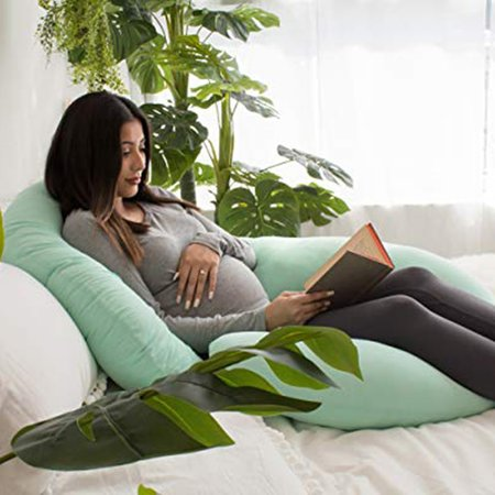 Pregnancy Pillow with Jersey Cover C Shaped Full Body Pillow
