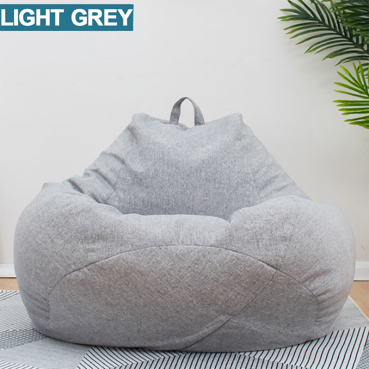 100*120cm Extra Large Bean Bag Chair Cover Indoor Outdoor Game Seat Bean Bag Lazy Sofa Cover