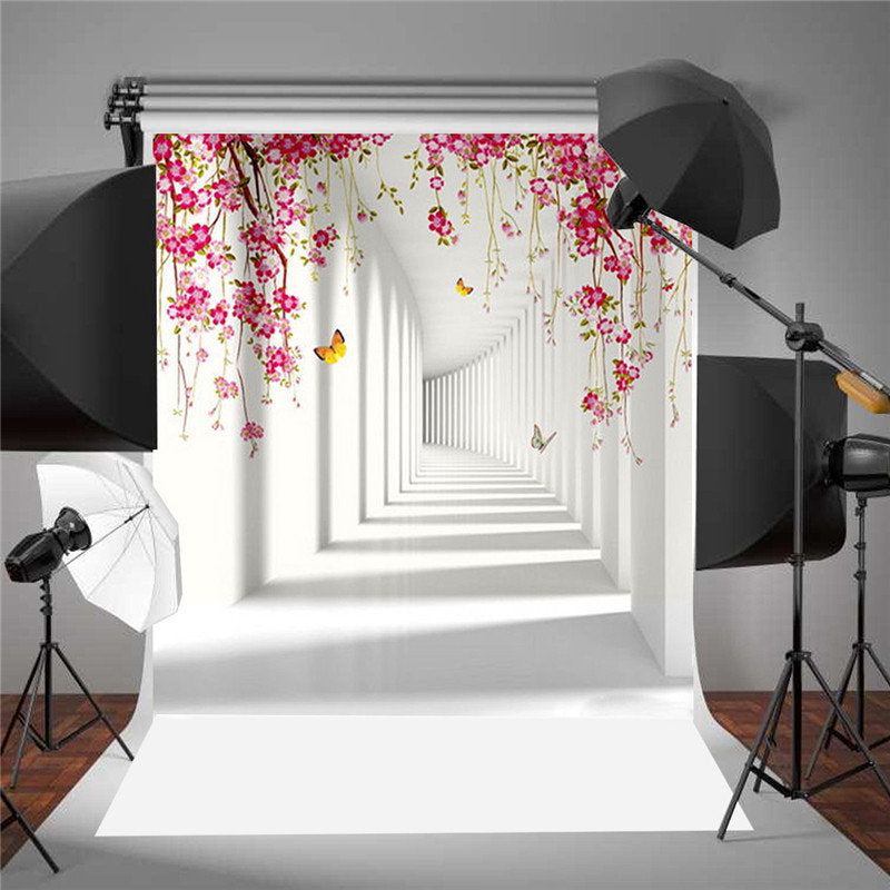 5x7FT Vinyl Photography Backdrop Art Corridor Background Studio Prop