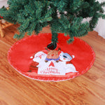 New Christmas decorations Christmas Tree Skirt Christmas Apron high grade fabric Christmas Tree Skirt 90cm