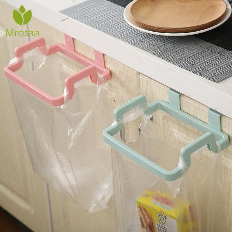 Towel Shelf Holders Cupboard Bag Clips Door Back Trash Rack Storage