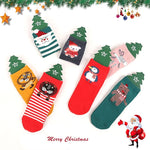 7 Styles Children's Christmas Socks 3D Feather Cartoon Boutique Children's Socks