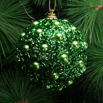 8CM Frosted Jewel beautiful Bauble for Christmas tree decooration Pearl Gold Powder