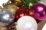 Christmas decorations 8cm sequins gold decorations Christmas ball scales Christmas tree decorations