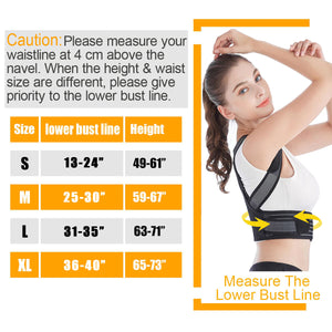Adjustable Posture Corrector Belt Corset Humpback Correction Back Shoulder Support