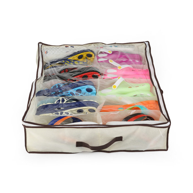 12 Pairs Shoes Organizer Holder Under Bed Closet Storage Box