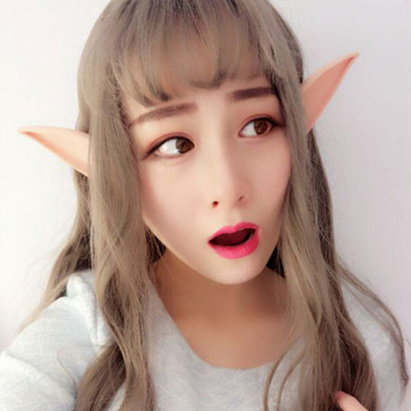 Angel Elf Ears Fairy Cosplay Accessories LARP Halloween Party Latex Soft Pointed Prosthetic