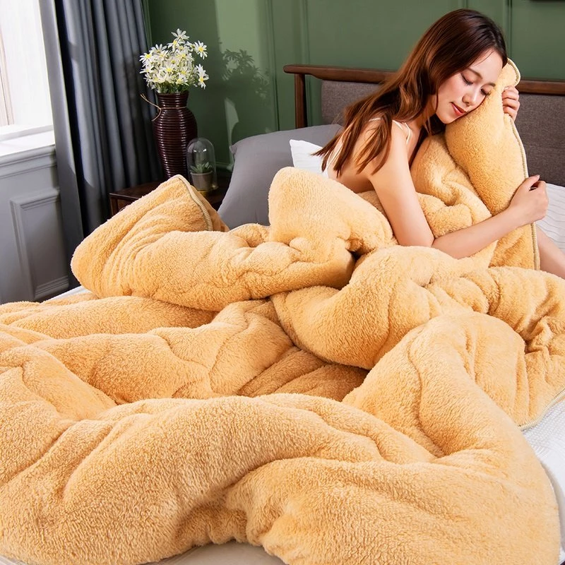 4Kg Thicken Lamb Cashmere Blanket Winter Soft Warm Bed Quilt for Bedding Twin Full Queen King Size