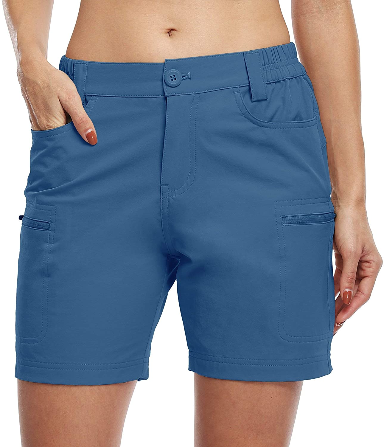 Unisex  Hiking Cargo Shorts Stretch Golf Active Shorts Water Resistant Outdoor Summer Shorts with Pockets 5""