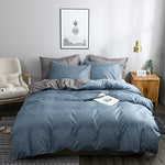 Solid Color 3 Piece Comfortable Quilt Cover Texture Feeling Duvet Cover Set Personalized Bedding Home Bedding Sets Classic US,EU,AU Size