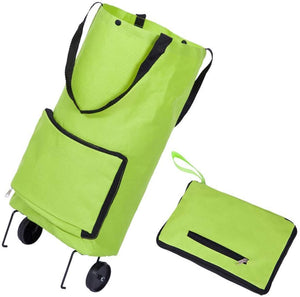 Protable Shopping Trolley Bag With Wheels Portable Foldable Shopping Bag Cart