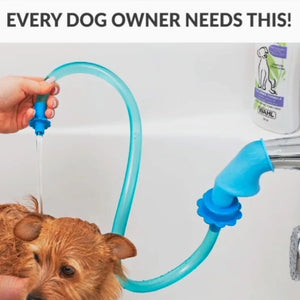 Universal Pet Shower Cleaner Sprinkler Hose Handheld Rinser Connector Dog Wash Hose Attachment Silicone For Dogs Cats Fits