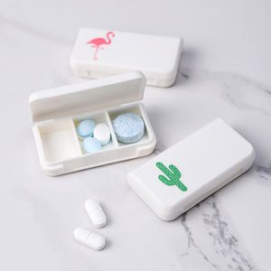 3 Grids Portable Pill Medicine Box Holder Storage Organizer Tablet Container Dispenser Case Pill Box Splitters for AM PM