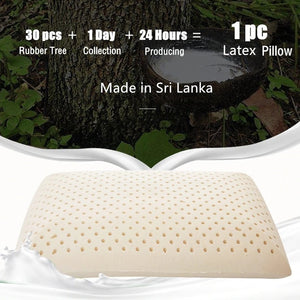 100% Natural Latex Classic Pillow Neck Vertebrae Health Pillow Sri Lanka