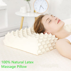100% Natural Latex Pillow Neck Cervical Protective Spine Massage Pillow Sri Lanka