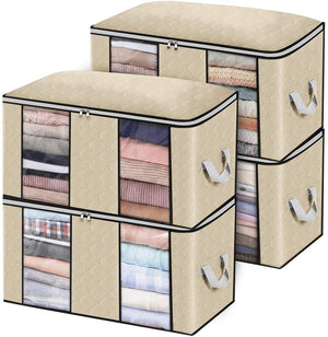 Closet Organizer Clothes Storage Bags Large Capacity Storage Organizers with Reinforced Handle