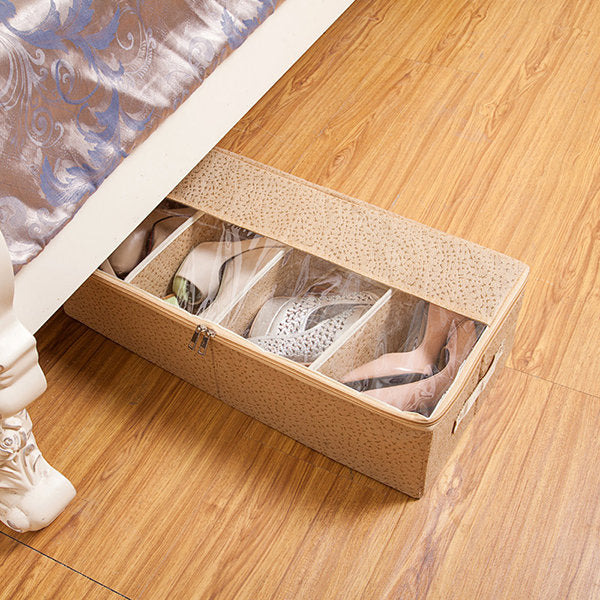 Foldable Thickening Shoes Organizer Transparent Boots Storage Bag