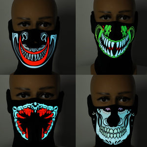 Halloween LED Mask Cool Light Up Cosplay Party Flashing Luminous Ghost Skull Hot Mask