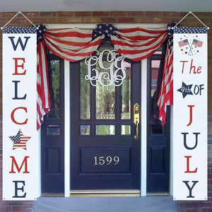 American Independence Day Flag National Flag Door Curtain Curtain Flag Custom Decoration Couplet Banner