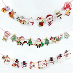 1 Piece Christmas Wall Hanging Drop Ornaments Flag Banner Pendant Fot Home Party Decor