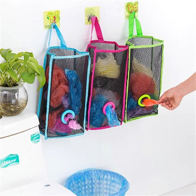 Convenient Plastic Bag Holder Dispensers Storage Bag