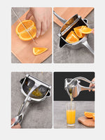 Juicer Squeezer 304 Stainless Steel Portable Vegetable Fruit Manual Juicer Press Lemon Pomegranate Maker Squeeze Kitchen Tools