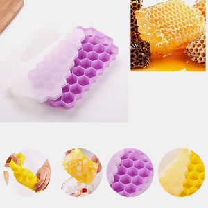 37 Grid Honeycomb Silicone Ice Cube Diy Crushed Ice Ice Maker Ice Mold