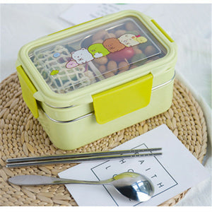 304 Stainless Steel Liner Lunch Box Fast Heating More Durable Thermal Insulation Bento Box