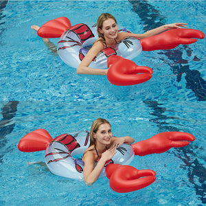 Inflatable Crayfish Swimming Ring Floating Bed Water Mount Animal Floating Row Net Red Super Large Swimming Ring