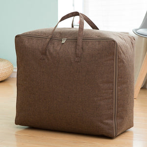 Cotton Linen Solid Finishing Bag Clothes Quilt Household Quilt Bag Large Tote Moving Bag