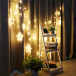 138 LEDs 4m Star LED Curtain String Fairy Light for Garden Party Wedding Decor US EU UK Plug